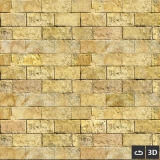 Mur de pierre jaune 3d