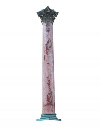 Colonne de marbre détourée