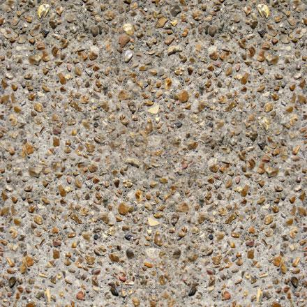 Béton désactivé avec pierres de silex