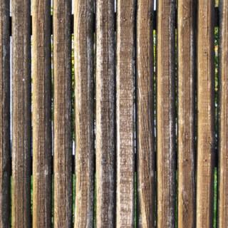 Vieille palissage en bois
