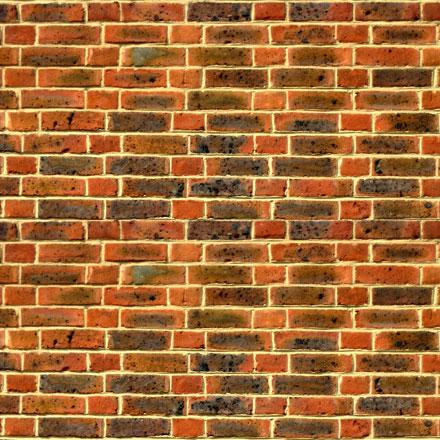 Mur de briques brun et ocre