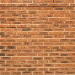 Mur de briques oranges