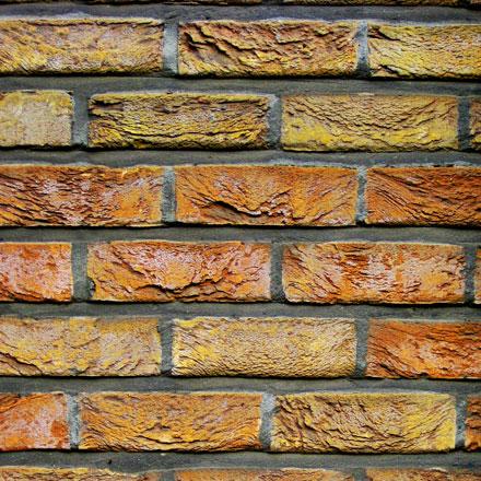 Briques jaune orangé
