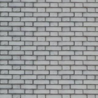 Parement de briques blanches