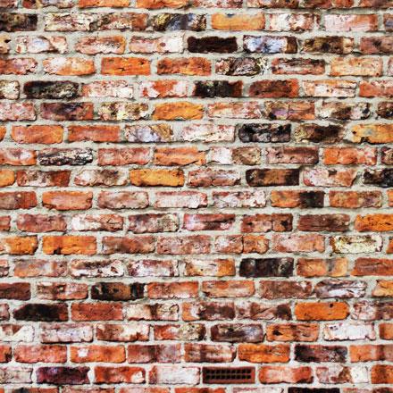 Mur de briques usées