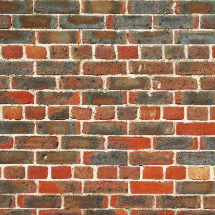 Mur de briques en appareillage français