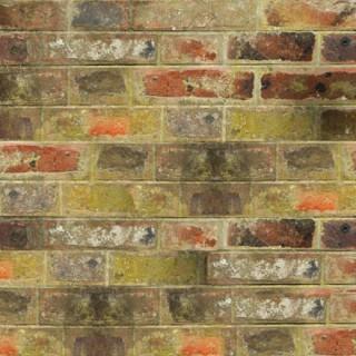 Mur de briques colorées