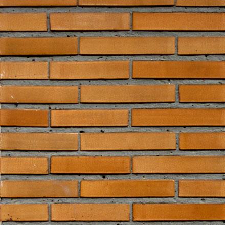 Briques fines de couleur ocre