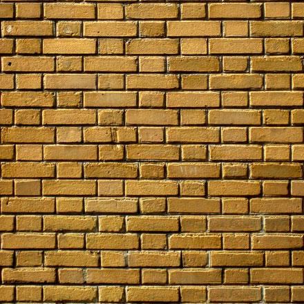 Mur de brique ocre
