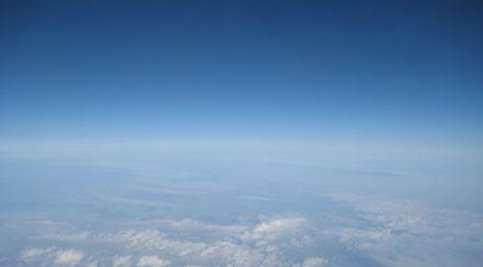 Nuages vue d'avion