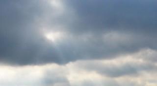 Photo ciel orageux avec soleil