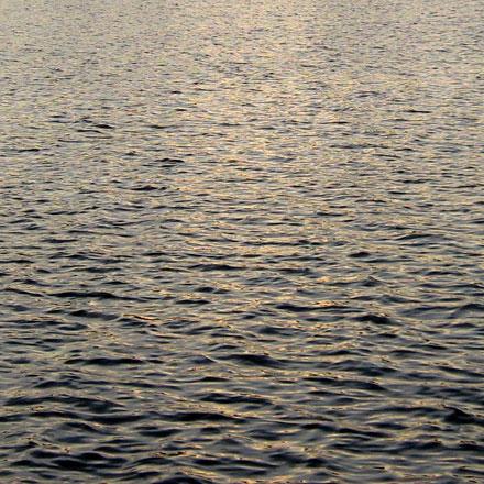 Reflet de soleil couchant