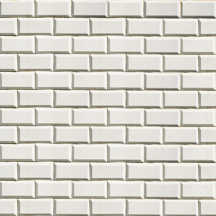 Mur de carrelage blanc