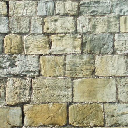 Mur de pierres médiéval