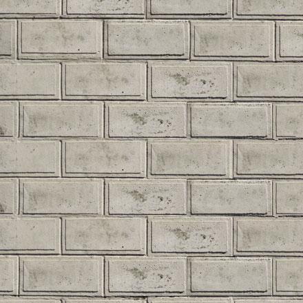 Mur de pierres banches sculptées