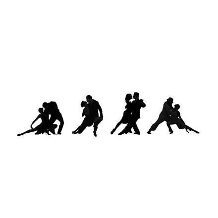 Silhouettes danse tango