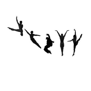 Silhouettes danseurs