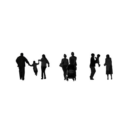 Silhouettes familles