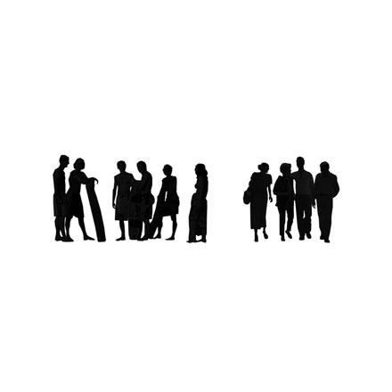Silhouettes de groupes