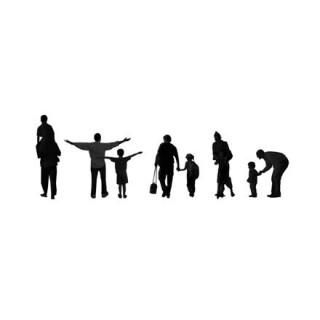 Silhouettes parents et enfants
