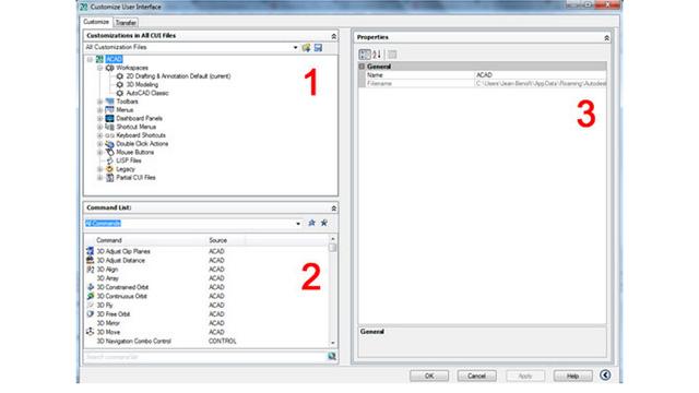 Modifier les raccourcis clavier Autocad avec le CUI